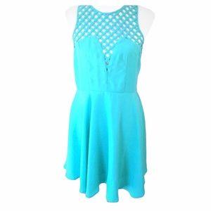 English Rose Green Short Dress Large